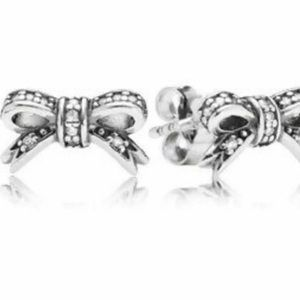 Authentic Bow Stud Earrings